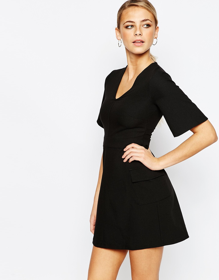 Boohoo A-Line Skater Pocket Dress 4
