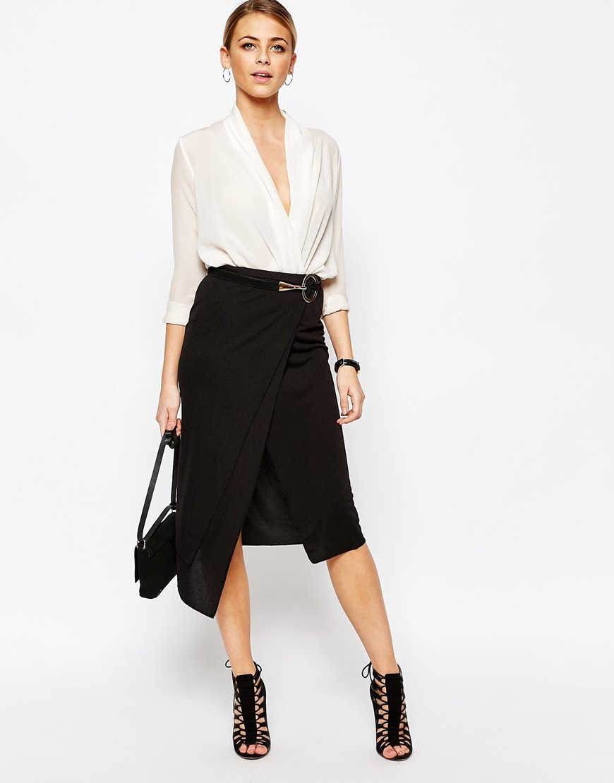 Boohoo Layered Wrap Midi Skirt | OOTD