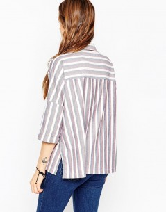 Casual Oversize Shirt In Stripe 1