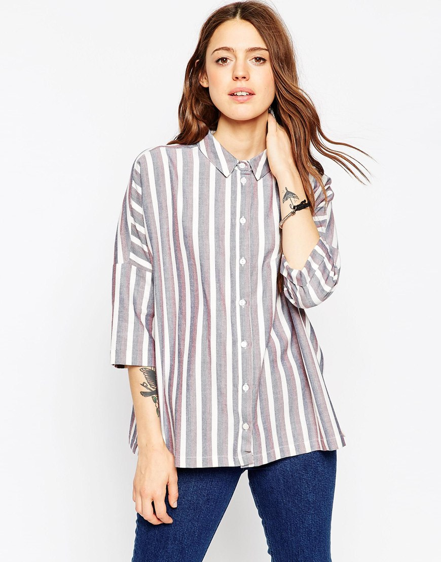 Casual Oversize Shirt In Stripe 4