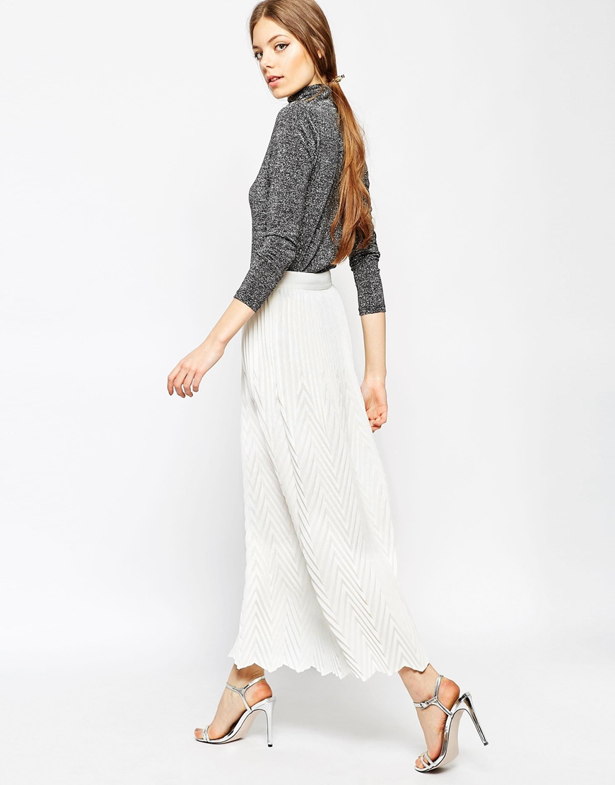 Chevron Pleat Maxi Skirt 1