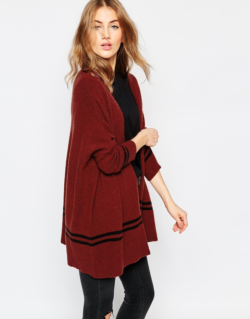 Chunky Cardigan with Stripe Detail 4