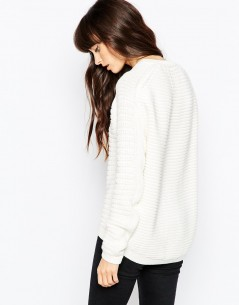 Chunky Jumper In Cotton With Stitch Detail 1