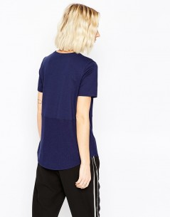 Contrast Ribbed Panel T-Shirt 1