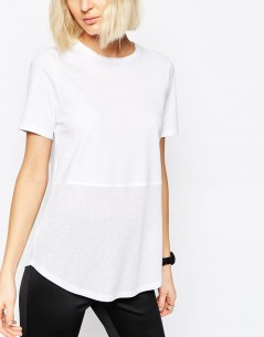 Contrast Ribbed Panel T-Shirt 2