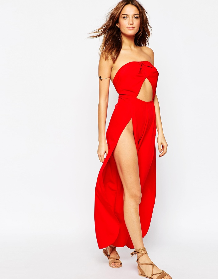 Cut Out Halter Split Wrap Leg Beach Jumpsuit 3