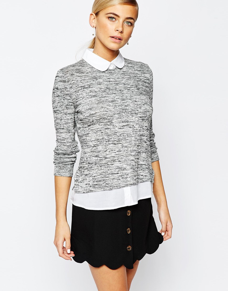 Fashion Union 2 in 1 Shirt Jumper 4