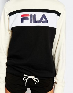 Fila Oversized Boyfriend Sweatshirt With Front Logo & Drawstring 2