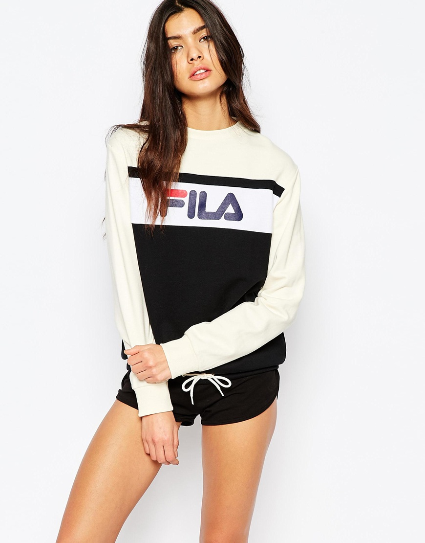 Fila Oversized Boyfriend Sweatshirt With Front Logo & Drawstring 4