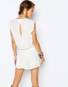 Free People Dream Drape Tank in Ivory 1