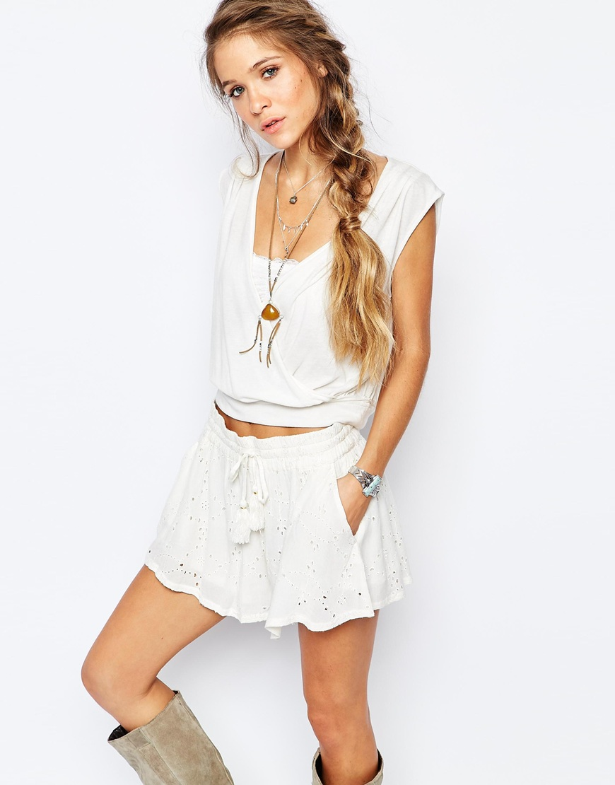 Free People Dream Drape Tank in Ivory 4