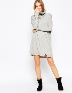Knit Dress With Zip Detail In Cashmere Mix 3. Dresses