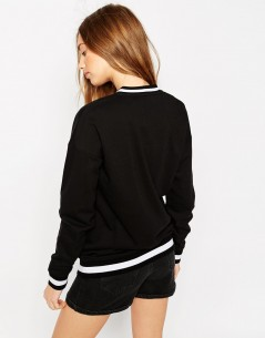 Longline Bomber With Stripe Ribs 1
