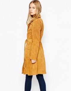 Lost Ink Suede Belted Trench 1