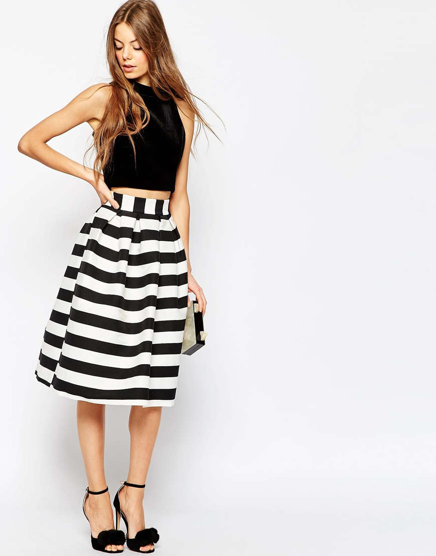 Midi Prom Skirt in Stripe 4