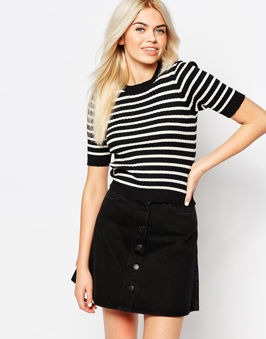 Monki Contrast Detail Top 4