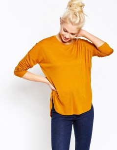 Monki Long Sleeve Dip Hem T-Shirt 4