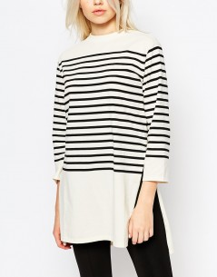 Monki Longline Stripe Top 2