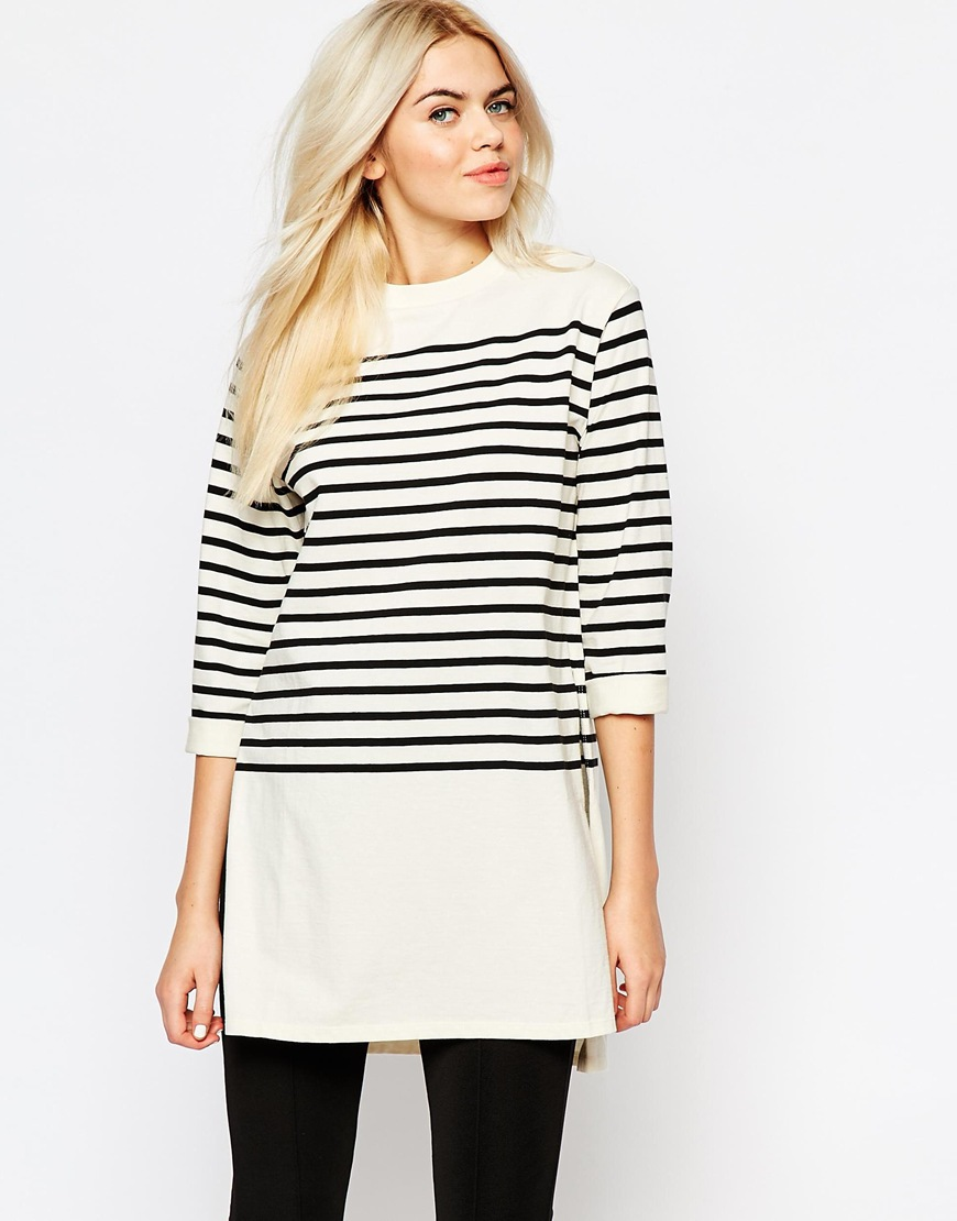 Monki Longline Stripe Top 4