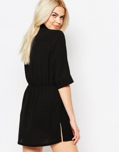 Monki Zip Front Shirt Dress 1