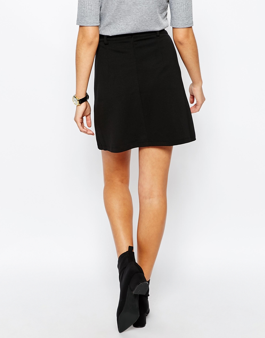 New Look Belted Ponte A-line Skirt
