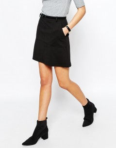 New Look Belted Ponte A-line Skirt 3