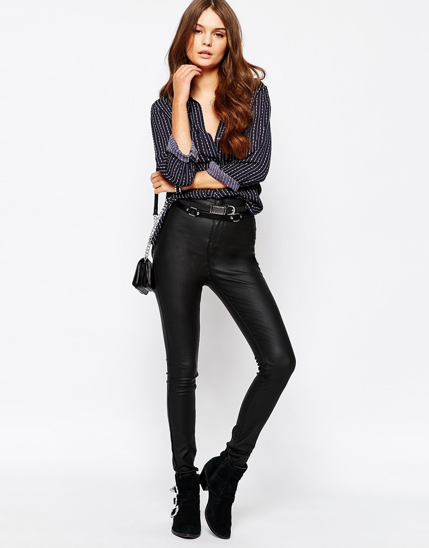 New Look Coated Super Skinny Jeans 4