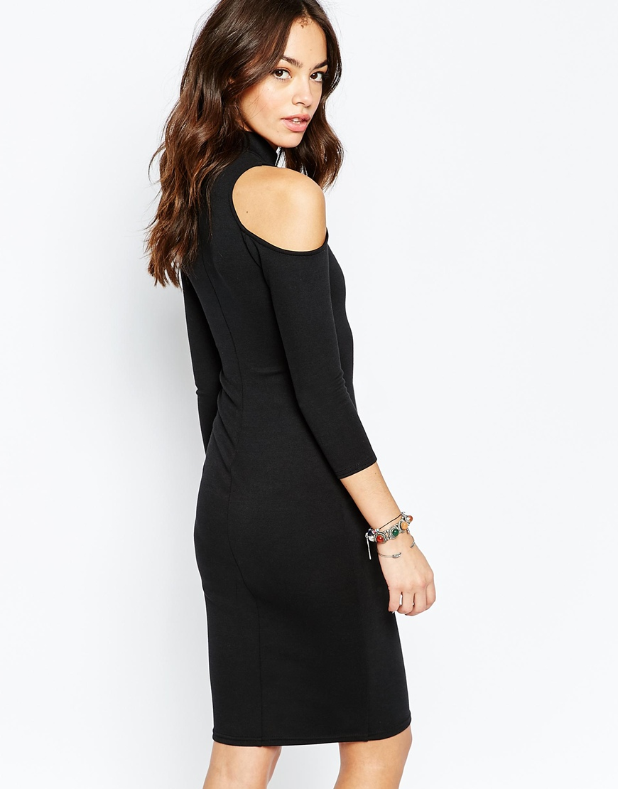 New Look Cold Shoulder Bodycon Dress 1