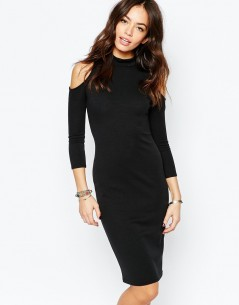 New Look Cold Shoulder Bodycon Dress 4