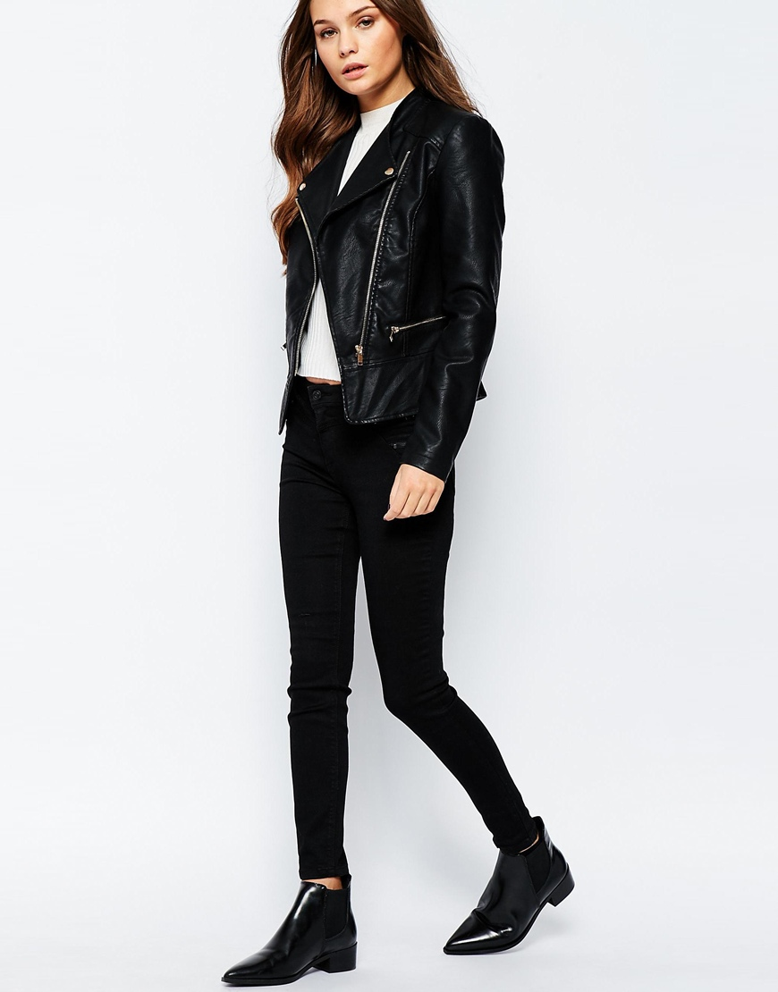 Leather jacket new look - New Look Faux Leather Biker Jacket Previous Next