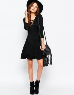 New Look Lace Up Swing Dress 3