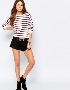New Look Oversized Stripe Sweatshirt 01