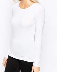 Oasis Satin Trim Jersey Top 2