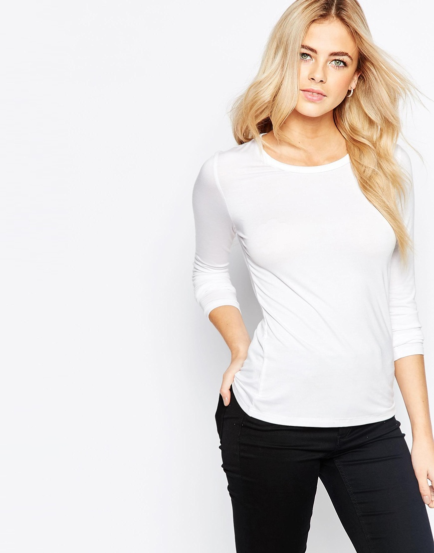 Oasis Satin Trim Jersey Top 4