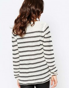 Only Striped Waffle Knit Jumper 1