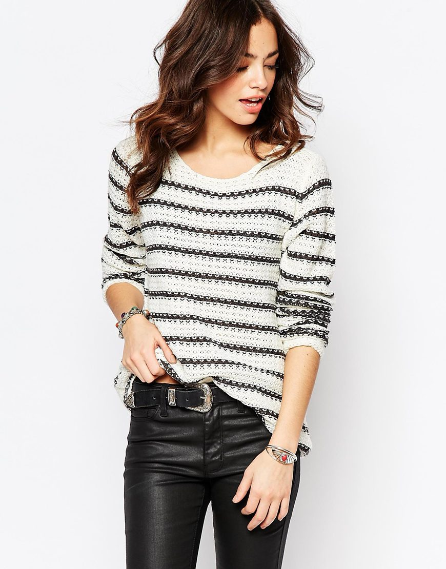 Only Striped Waffle Knit Jumper 4