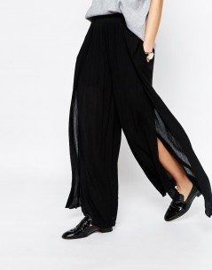 Paisie Layered Wide Leg Floaty Trouser 3