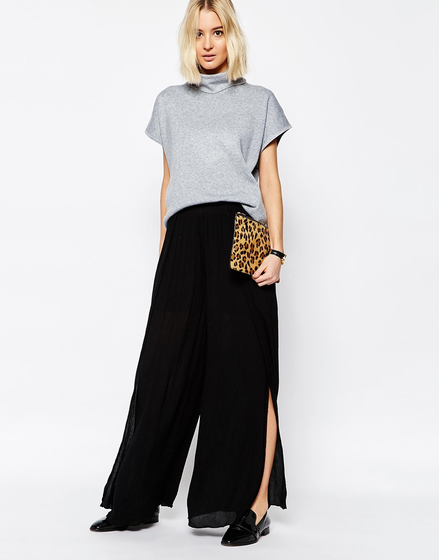 Paisie Layered Wide Leg Floaty Trouser 4