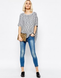 Paisie Ribbed Short Jumper with Batwing Sleeve 3