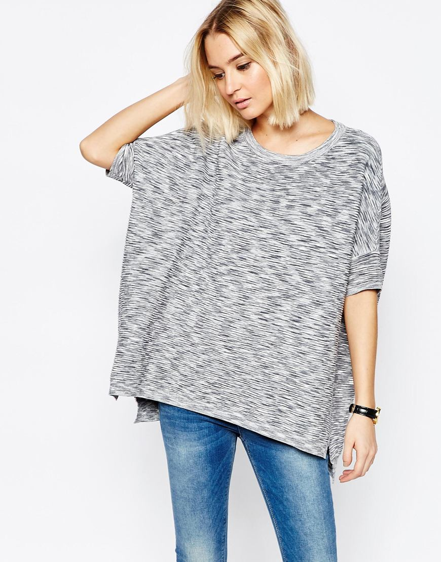 Paisie Ribbed Short Jumper with Batwing Sleeve 4