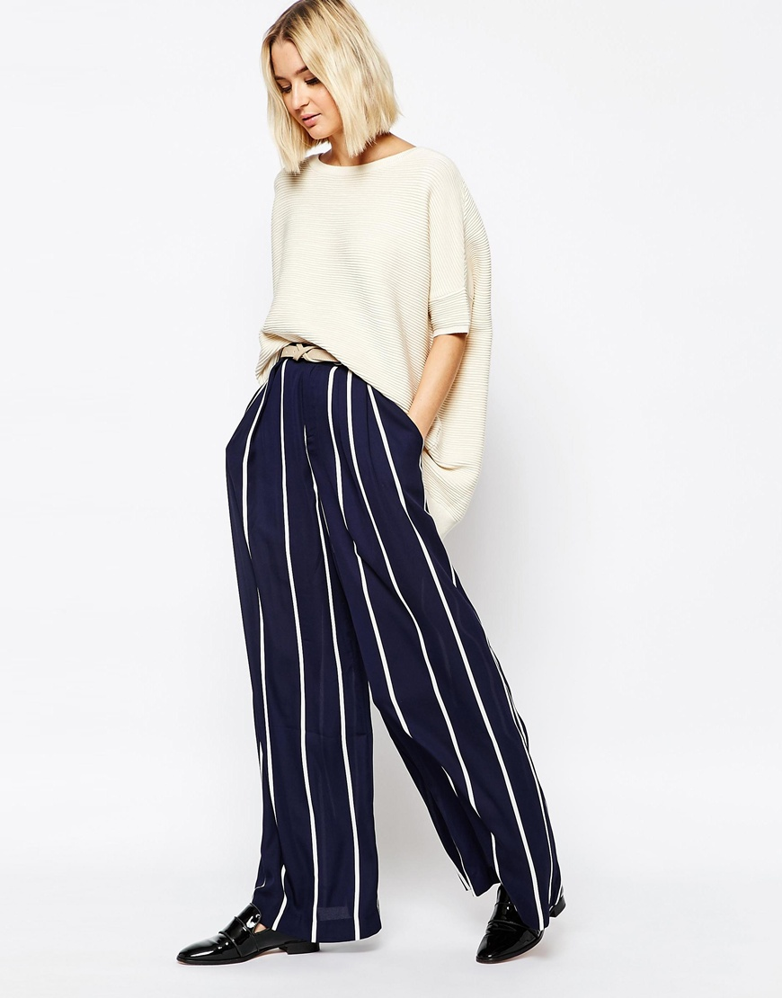 Paisie Striped Palazzo Trouser 4