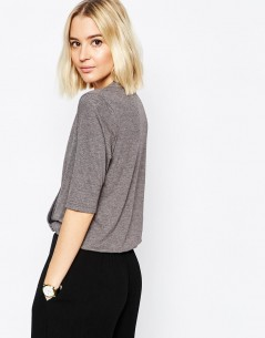 Paisie Wrap Top with Half Sleeve 1