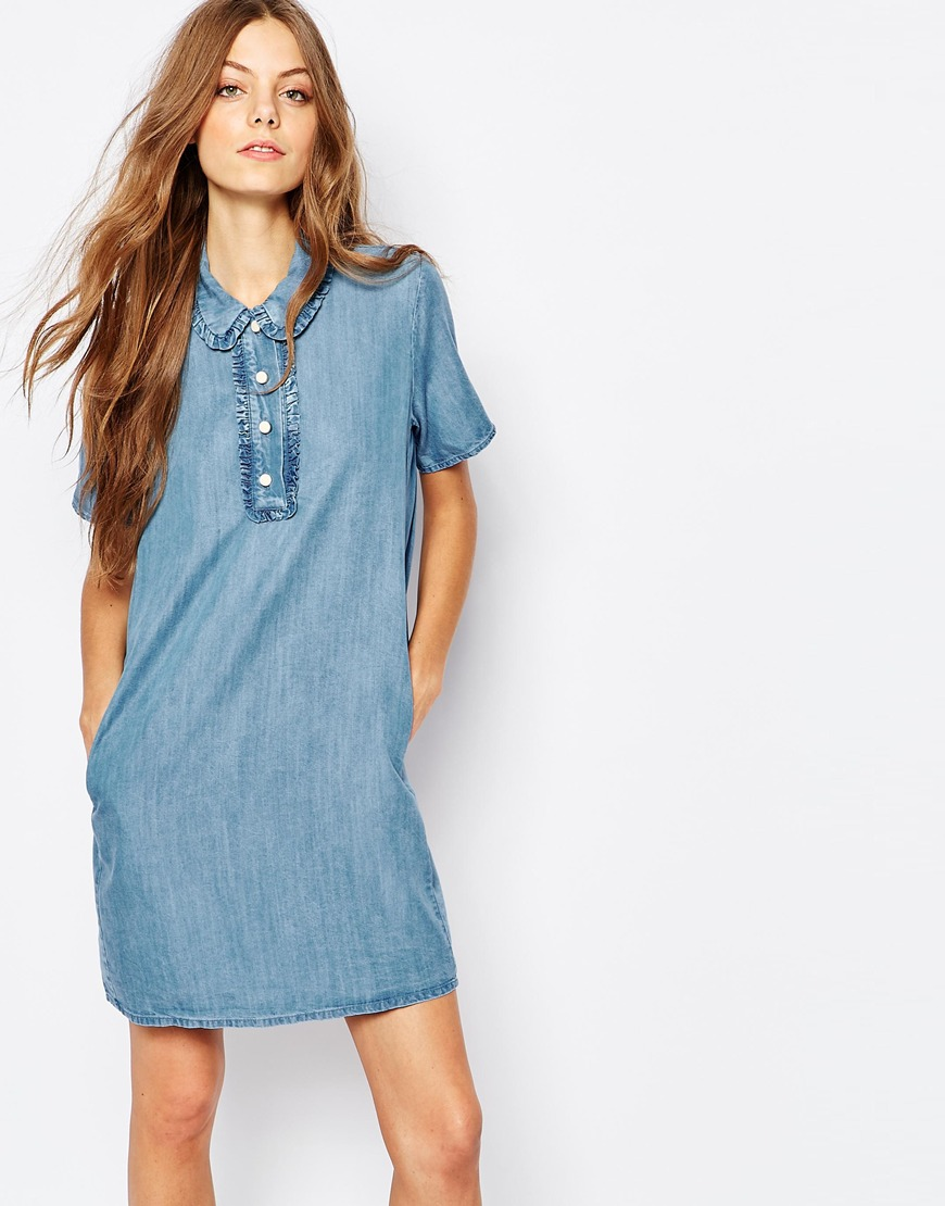 Paul And Joe Sister Denim A Line Mini Dress Previous Next