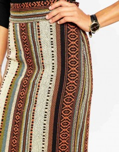 Pencil Skirt in Stripe Jacquard 2