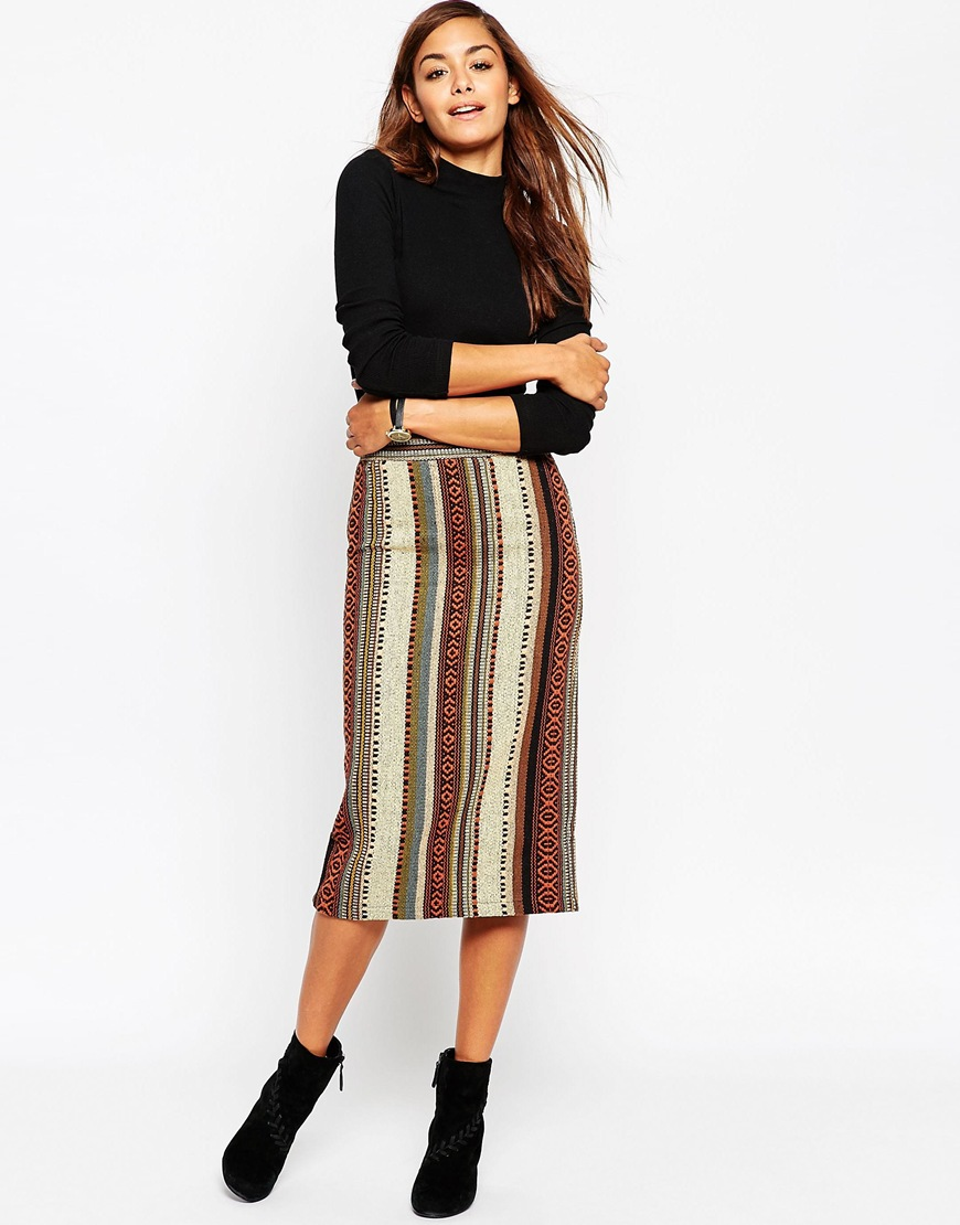 Pencil Skirt in Stripe Jacquard 4
