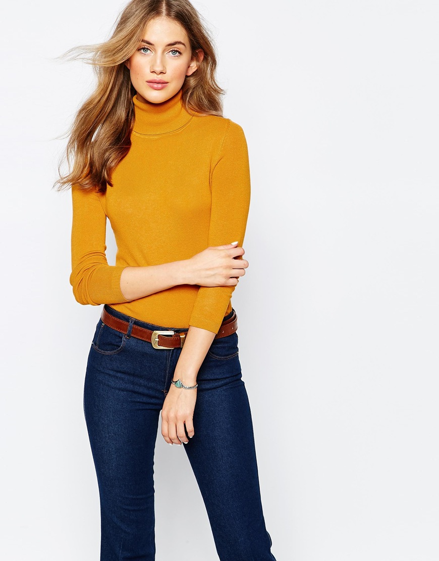 Pull&Bear Rib Polo Neck Jumper 4