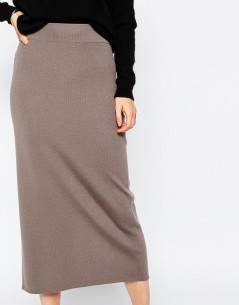 Reiss Callis Long Knitted Pencil Skirt 03