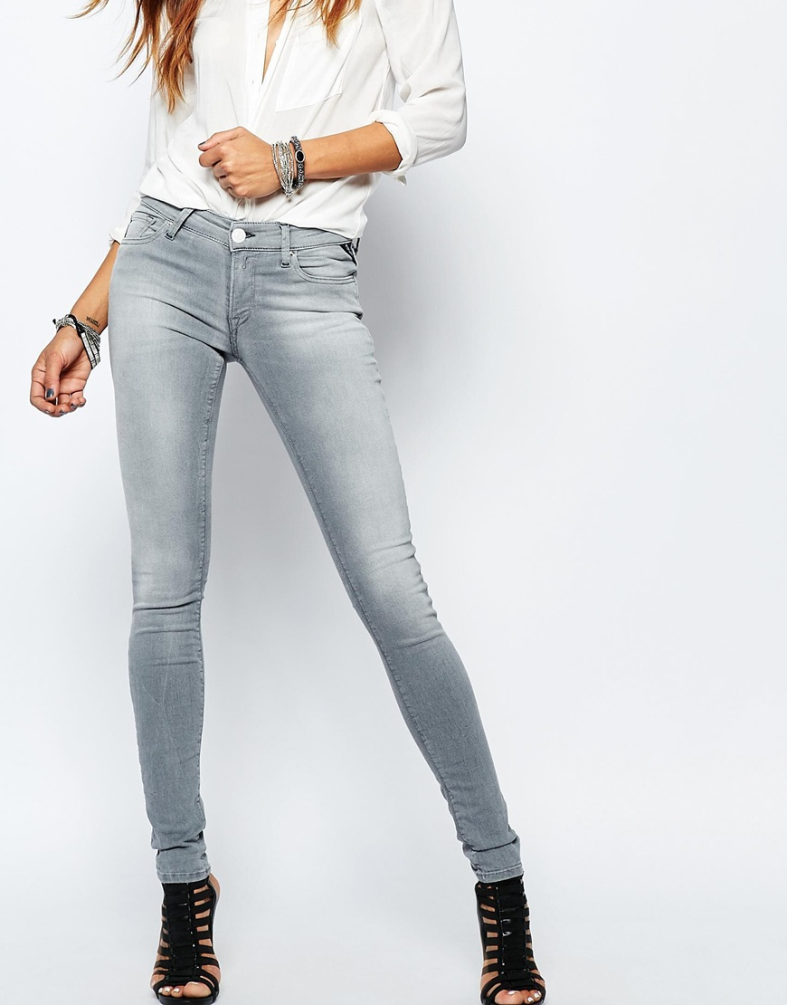 Replay Luz Hyperfree Mid Rise Skinny Jeans Ootd