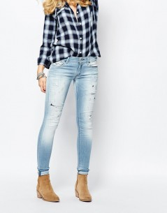 Replay Luz Mid Rise Skinny Jean With Bleach Effect 4