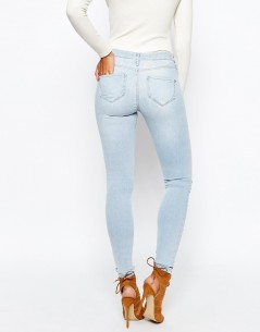 River Island Light Wash Distressed Molly Jean 1